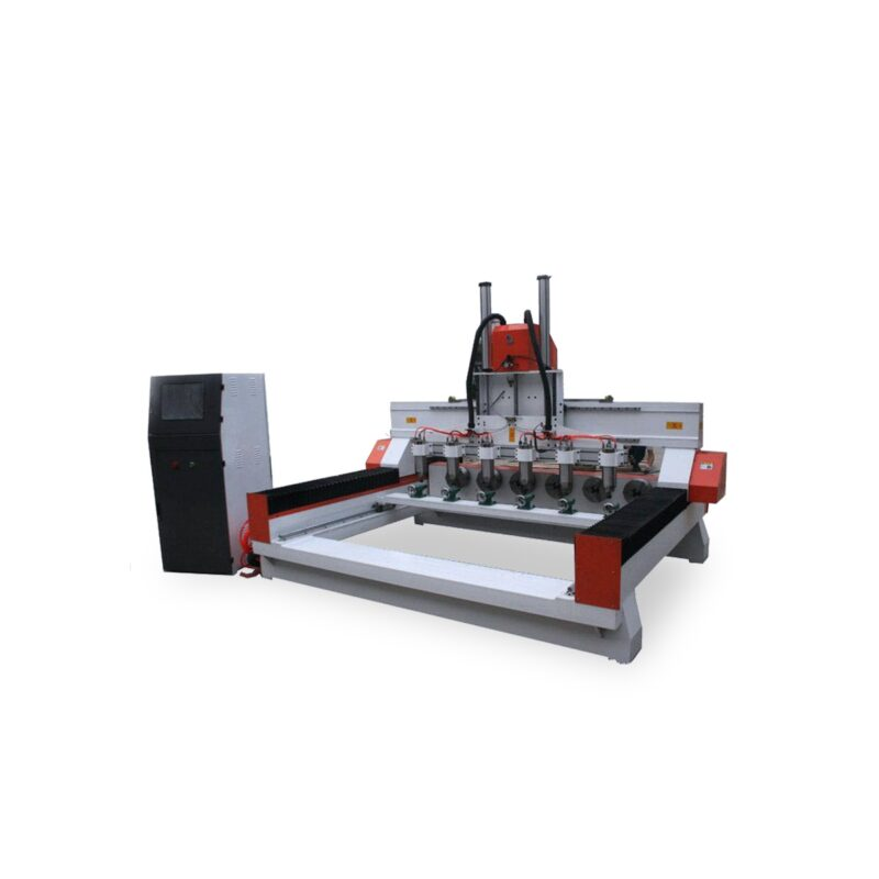 6 spindle and rotary axis 3D CNC router
