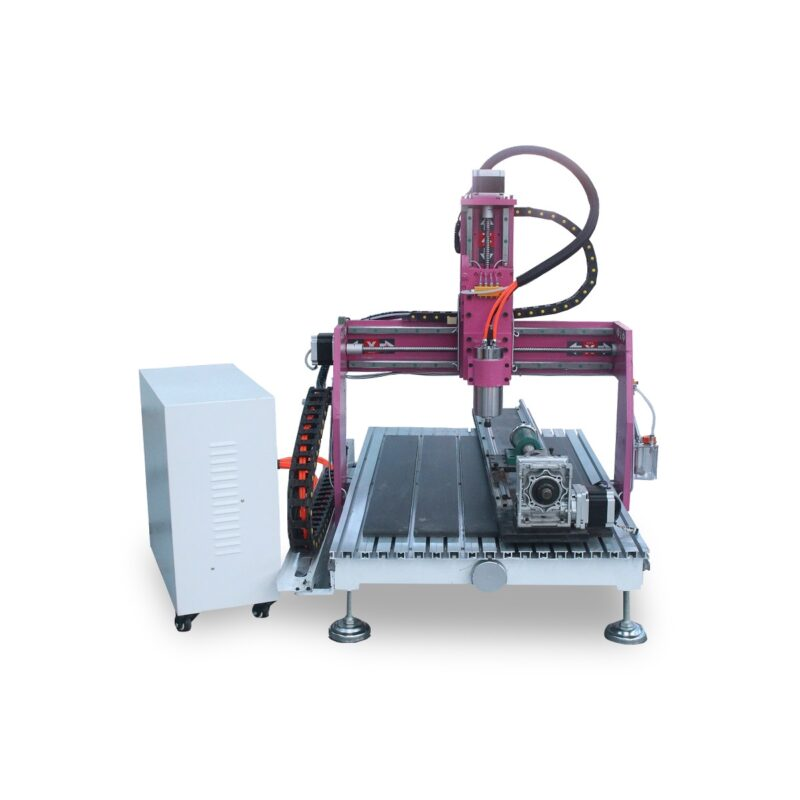 Desktop CNC router 6090 with rotary axis
